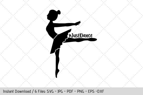 dance cricut file I love to dance Dance svg ballerina svg png dxf pdf eps silhouette file