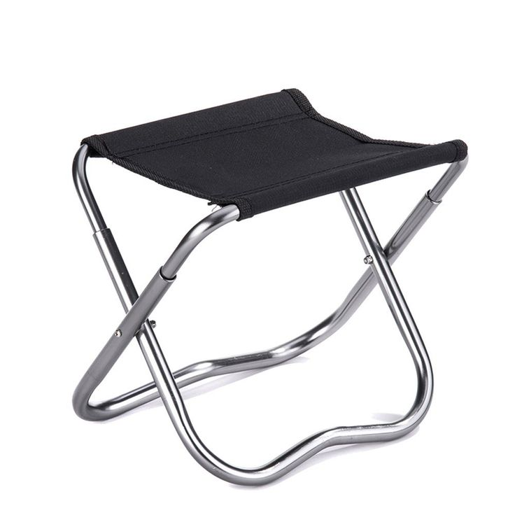 Outdoor Folding Chairs Portable Folding Stool Aluminum Alloys Fishing Stool (Black) -- New and awesome product awaits you, Read it now  : Camping Furniture