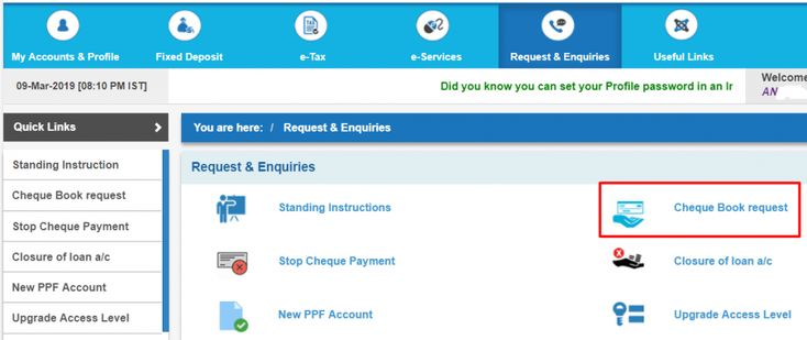 Sbi Cheque Book Delivery Status Enquiry Checkbook Status How