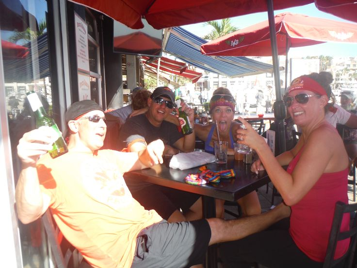 It's so much fun, everyone continues the party after each race!