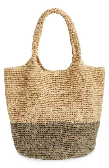 Soludos Color Block Straw Tote - Love this beach bag!!