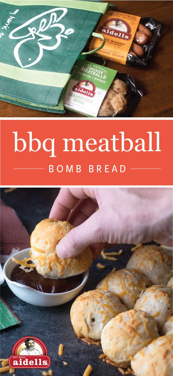 What's the game-winning secret to this BBQ Meatball Bomb Bread recipe? Aidells Caramelized Onion Meatballs of course! Here to help you score big at your homegating party, this appetizer idea is packed with flavor, easy to make, and is sure to keep the fans cheering. Pick up everything you'll need for your game day menu—like Aidells Caramelized Onion Meatballs—at your local Harris Teeter grocery store.