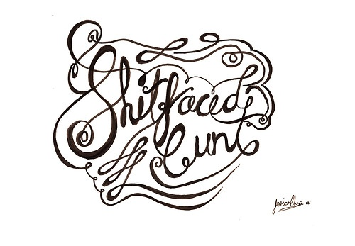 My first ever typography hand drawn piece. I love typography, but it's a shame typography doesn't like me.