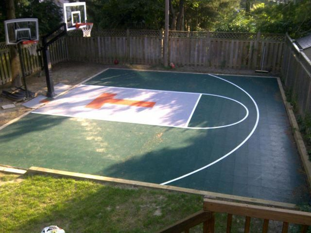 Sports Flooring By Total Sports Solutions Backyard Basketball Court Shipping To Ontario Canad Basketball Court Backyard Backyard Basketball Backyard Court