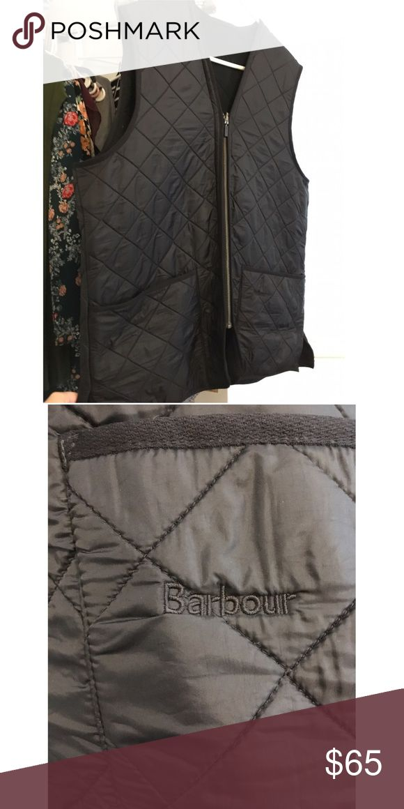 Men's Barbour vest black quilted vest in EUC. would fit large or xl - reasonable offers will be accepted ✨ Barbour Suits & Blazers Vests