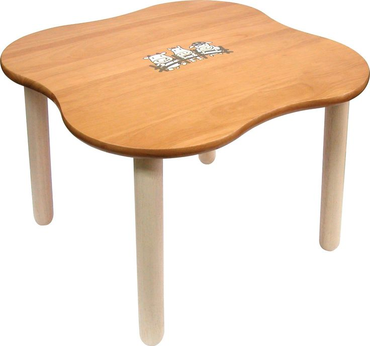I'm Toy Boerderij Tafel - Massief houten kindertafel. Donkerkleurig gelakt blad met afgeronde hoeken. Afmetingen: 59 l X 59 b X 44 h cm. Gewicht 7,5 kilo.