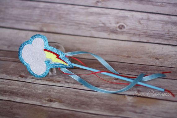 Hey, I found this really awesome Etsy listing at https://www.etsy.com/listing/270296018/princess-rainbow-wand-pony-wand-cloud