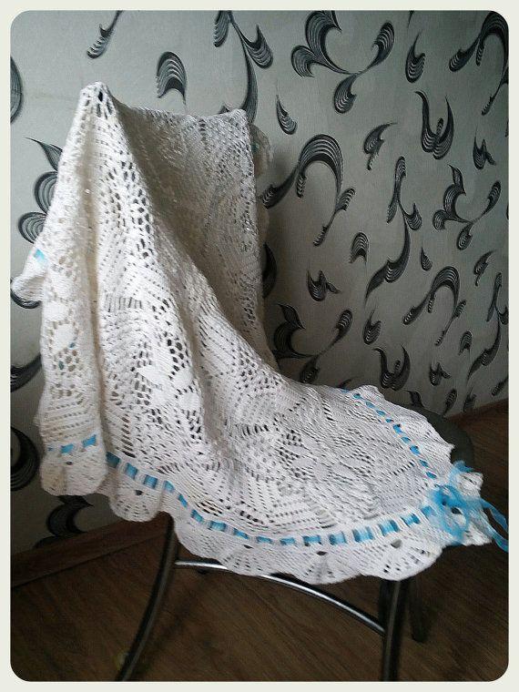 Children's Fishnet Plaid, Kids Plaid, Light Blanket  A blanket crocheted from a very fine quality 100% mercerised cotton, openwork pattern. The yarn is soft, hygroscopic, d... #newborn #crochet ➡️ http://jto.li/8WJG3