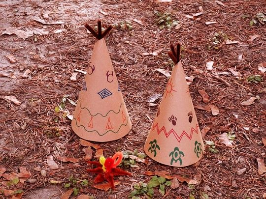 Paper Teepee Decorations for #Thanksgiving #kids #MichaelsStores