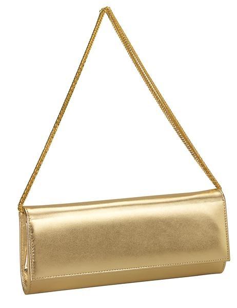 Tasjes : Sylvia goud Avondtasje Enveloptas Evening Bag  Clutch