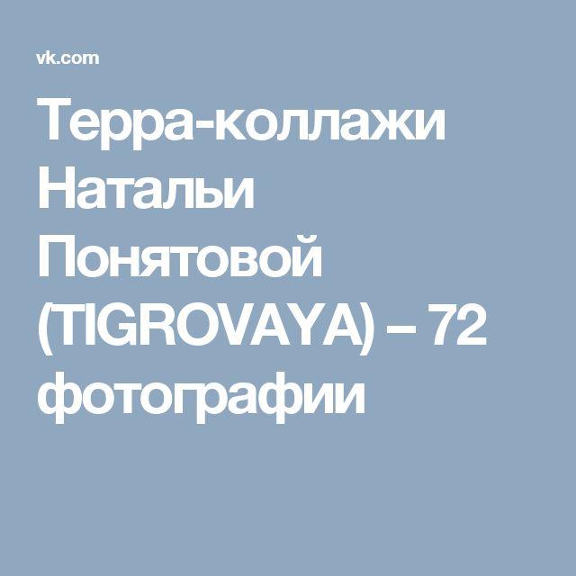 Терра-коллажи Натальи Понятовой (TIGROVAYA) – 72 фотографии