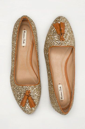 : Tassels Loafers, Glitter Slippers, Sparkly Shoes, Glitter Girls, Glitter Shoes, Massimo Dutti, Glitter Loafers, Glitter Flats, Dutti Glitter