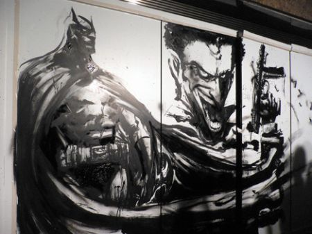 Pat Lee Batman comic art