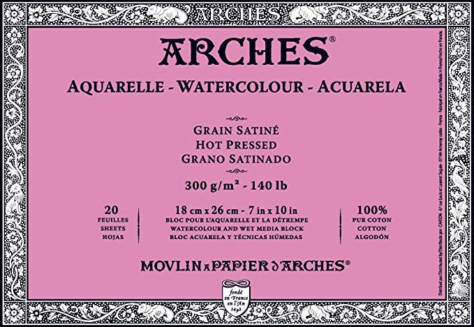 Save On Discount Arches 140lb Watercolor Paper Block Hot Press