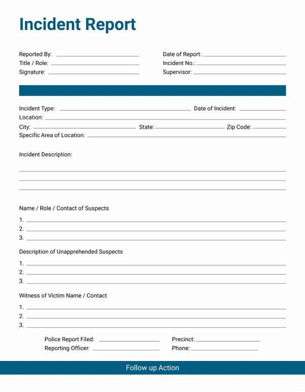 workplace incident report form template free beautiful 33