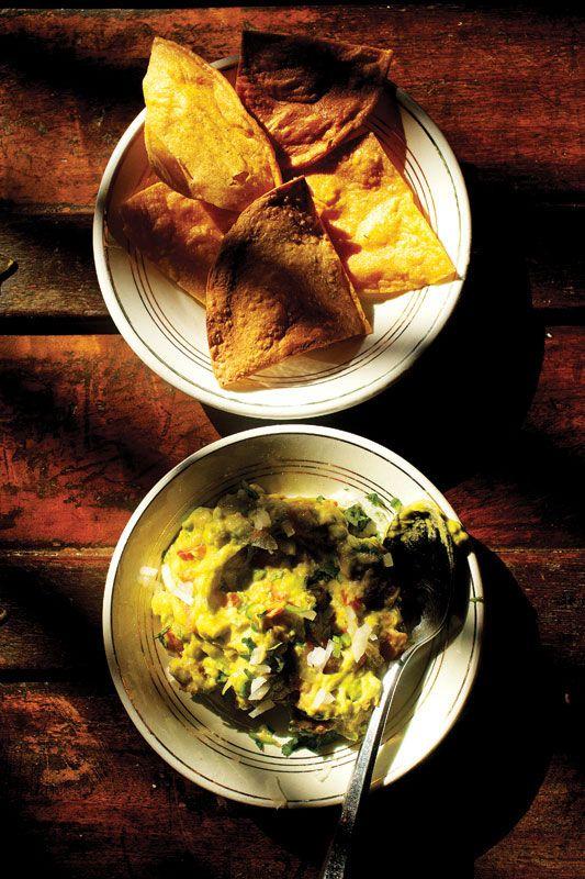 Classic guacamole from Angela Tovar Morales, a cook at La Casa Dragones in San Miguel de Allende, Mexico
