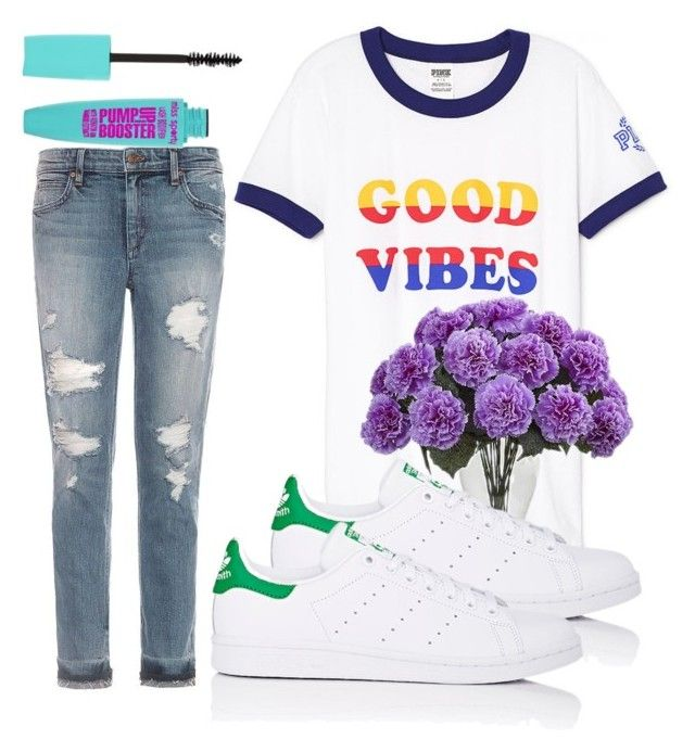 """lazy spring time"" by anagalvezschuler on Polyvore featuring Joe's Jeans and adidas"