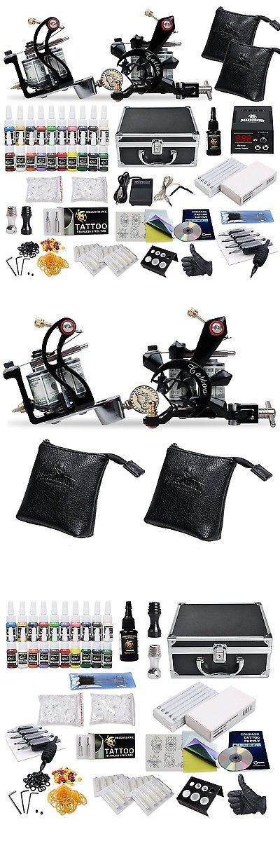 Tattoo Complete Kits: Complete Tattoo Starter Kit 2 Guns Supply Set Equipment D10-24 -> BUY IT NOW ONLY: $67.99 on eBay!
