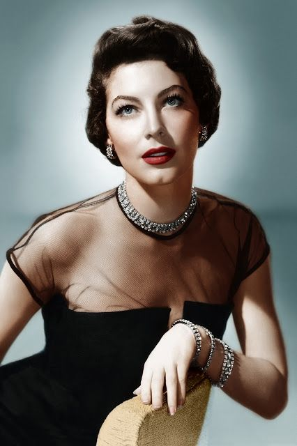 A classic beauty in black and sparkles - Ava Gardner
