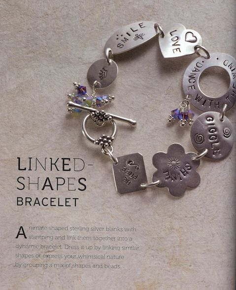 Linked Shaped Bracelet - Project from 'Stamped Metal Jewelry: Creative Techniques & Designs for Making Custom Jewelry