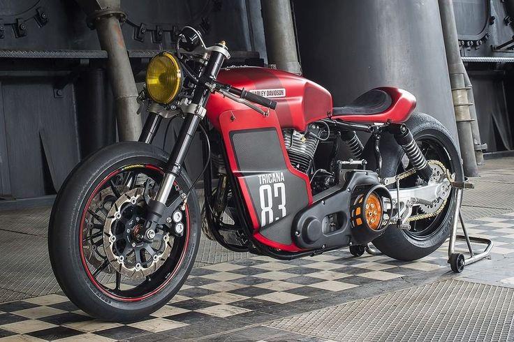 Harley-Davidson FLH Cafe Racer by Tricana Motorcycles #motorcycles #caferacer #motos | caferacerpasion.com