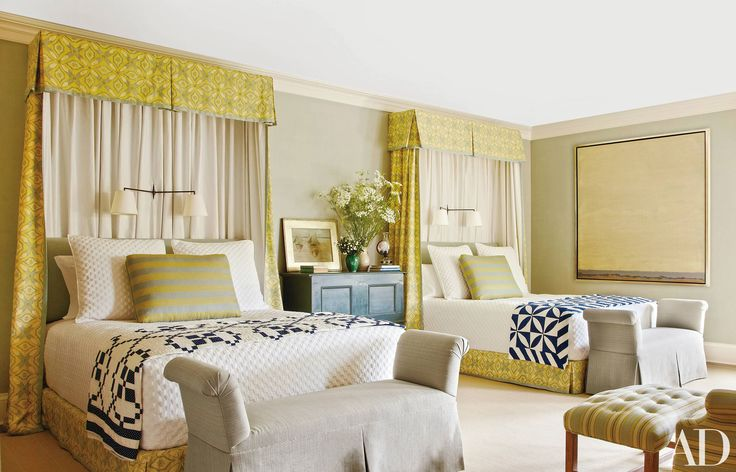 How to Decorate with Two Twin Beds - Guest Room and Kids Bedroom Ideas Photos | Architectural Digest