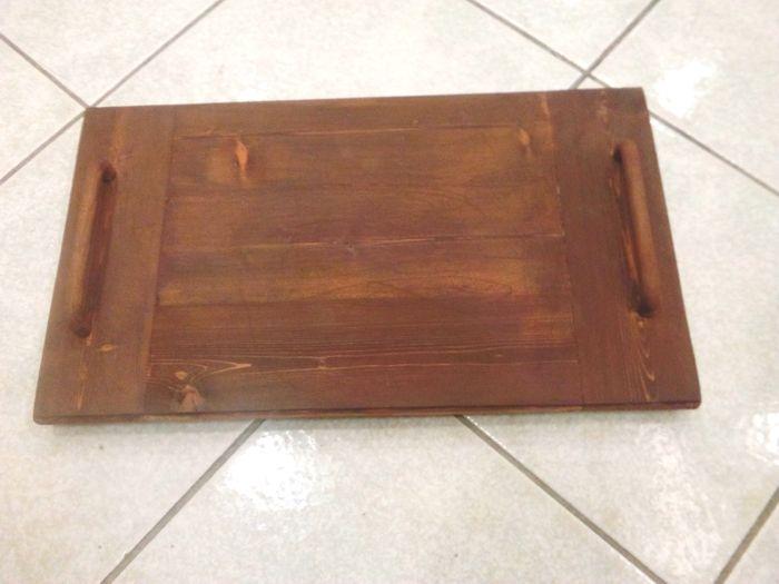 Δίσκος ξύλινος 45χ26 εκατοστά από μασίφ ξύλο