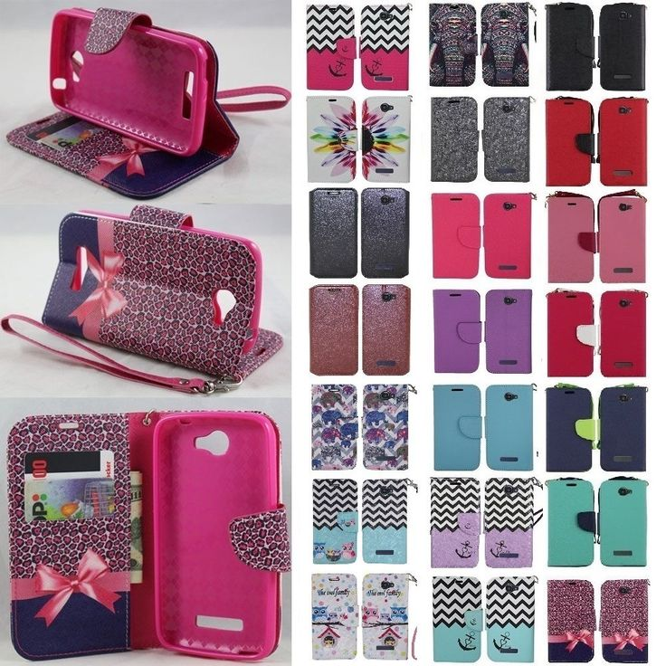 For Alcatel One Touch Fierce 2 Cell Phone Case Hybrid PU Wallet Pouch Flip Cover #SOGA
