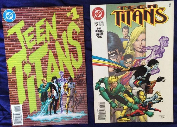 SOLD - #TeenTitans 1 & 5 (1996)  #DCComics #Robin #Supergirl FREE World Wide Postage