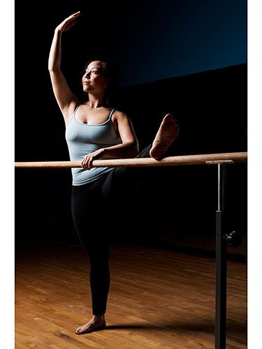 Feel the burn in your arms, abs, glutes, and thighs with barre, a ballet-inspired fitness class #exercise #fitness