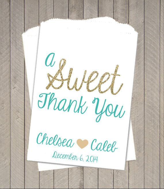 Wedding Favor Bags Sweet Thank You Wedding Candy by TheGalaHouse