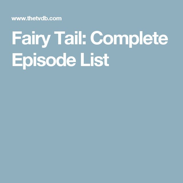 Fairy Tail: Complete Episode List