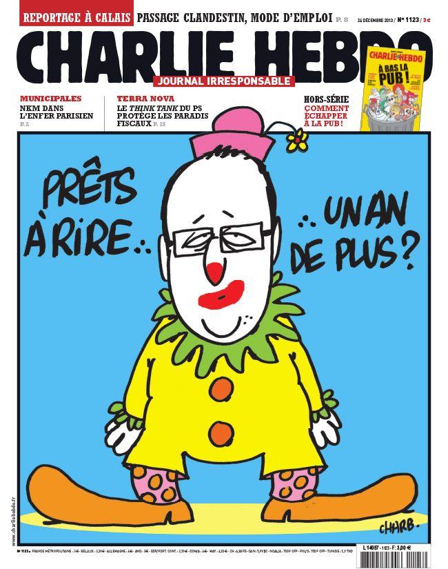 Charlie Hebdo - La une de la semaine par Charb - semaine du 25 décembre 2013 #satire #caricature
