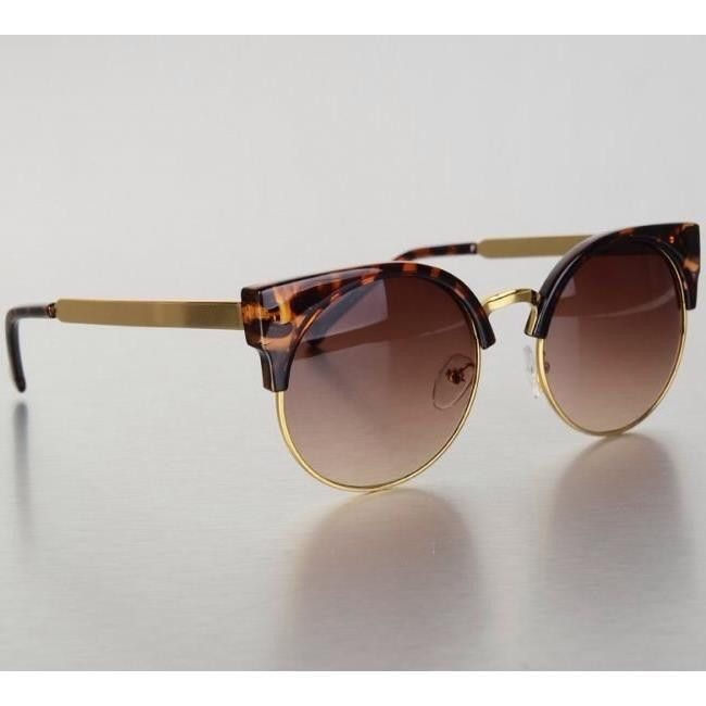 """swish"" cat eye sunglasses - tortoise – FIVE & DIME"