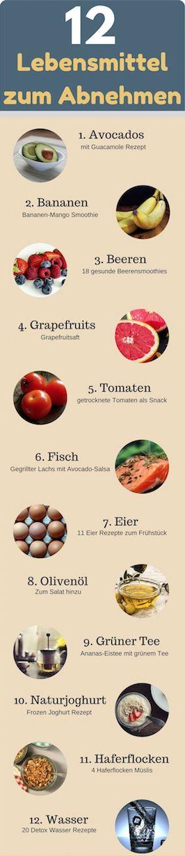 12 Lebensmittel zum Abnehmen ✅ Für eine gesunde Gewichtsabnahme ❤ 12 Super Foods um schnell Gewicht zu verlieren ❤ gesunde Ernährung ❤ Detox #fitness #gesund  #abnehmen