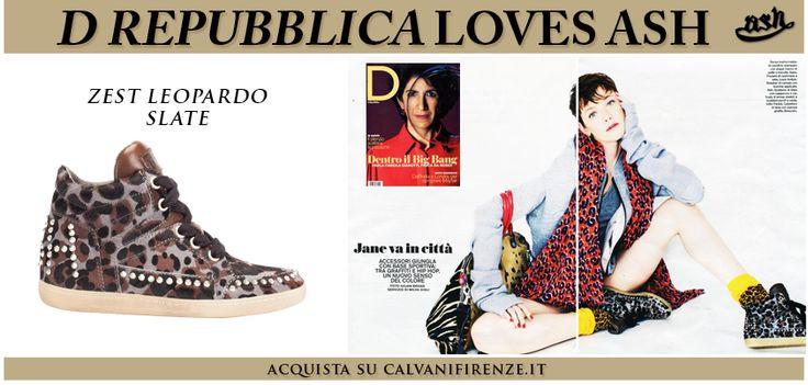 #DLaRepubblica ha presentato le #sneakers #borchiate Zest Leopardo di #Ash in un #editoriale dedicato allo stile #sporty #metropolitano!