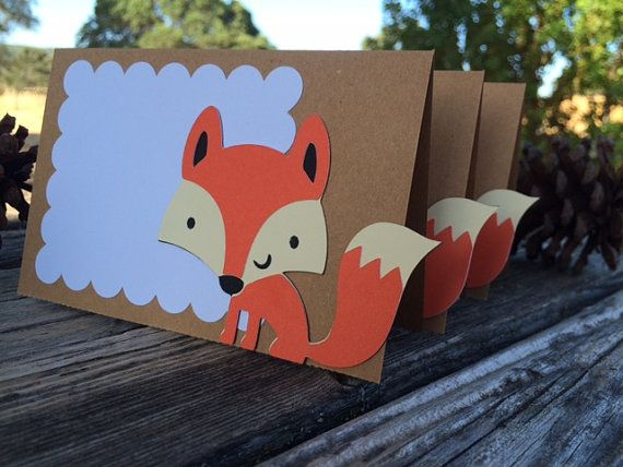 Woodland Fox Parti Food Labels - tente étiquettes, Birthday Party, Baby Shower…