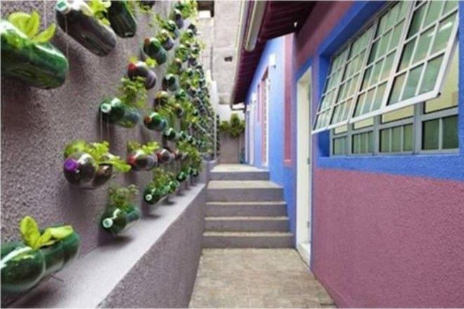 Подвесные сады из пластиковых бутылок своими руками