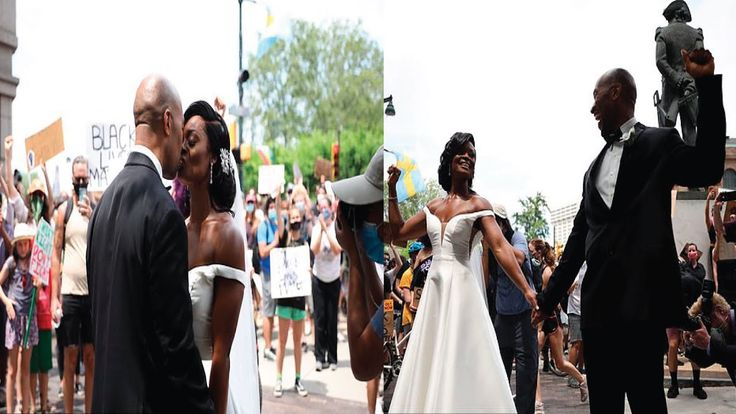 Couple Celebrate Their Wedding With George Floyd Protesters In Philadelphia Youtube Celebrities George