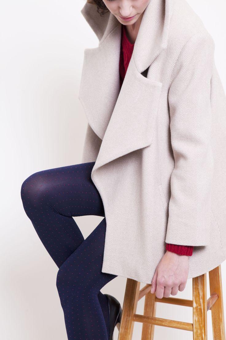 #TheNorthcote #Gehrich #Melbourne #Coat #Womensfashion #SoftHerringbone #Revercollar #CroppedSleeves #SilkLining