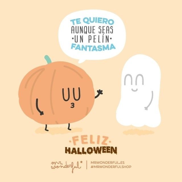 Te quiero aunque seas un pelín fantasma. ¡Feliz Haloween a todos! :) #mrwonderfulshop I think you're delish even if you are a bit ghoulish. Happy Halloween!
