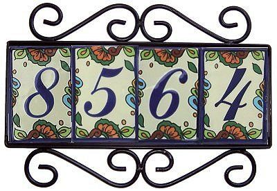 11 best house numbers images on pinterest house numbers for Spanish style house numbers