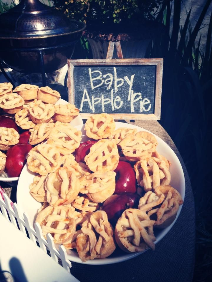 Barn Birthday Party Kid's Food  Baby Apple Pies  planning by Shanna Lumpkin Events Southern Party & Wedding Planner Catering by Fresh Cut Catering & Floral  image by Adam + Alli Photography