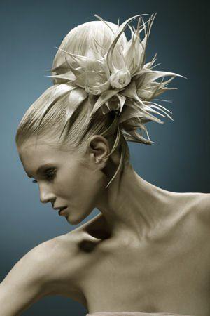 une coiffure de mariée originale.