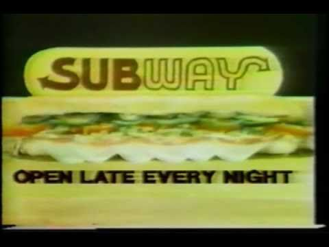 Late 1970s Subway Sandwiches Commercial