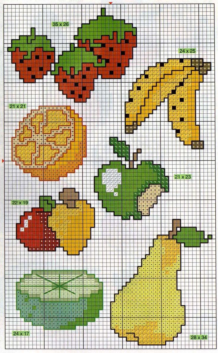 Frutas para ponto cruz…