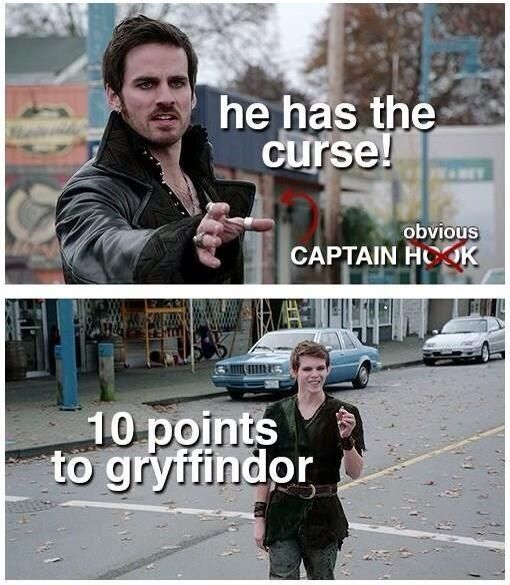 Why gryffindor?- Because he has enough courage to love Emma Swan. love the name change captain obvious lol