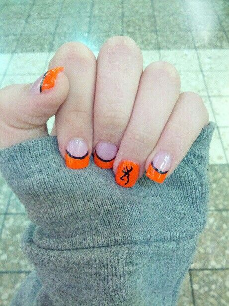 Nails for a camo prom