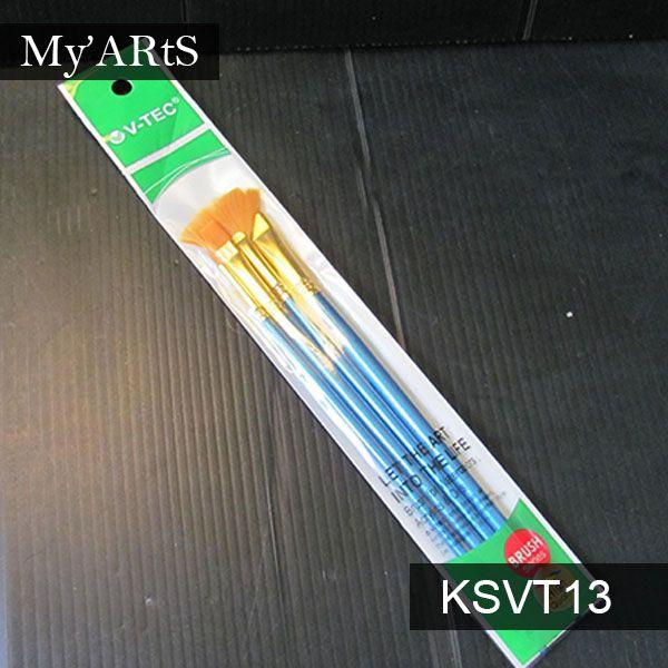 Vtec Kuas Lukis Cat Air Set 4 A0168 4 Myarts Kuas Lukis Kuas Gouache