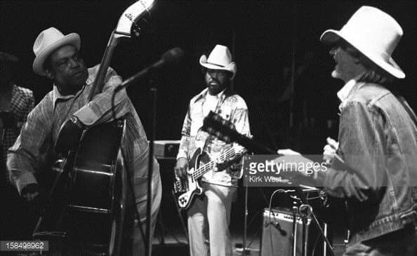 Johnny Winter and Willie Dixon perform at ChicagoFest, Chicago, Illinois, July 29, 1978